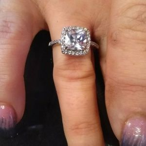 Jewelry - STERLING SILVER CUBIC ENGAGEMENT WEDDING RING, NWT
